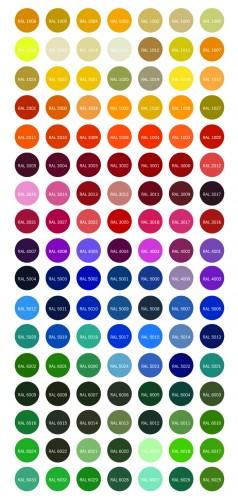 מניפת צבעי ral